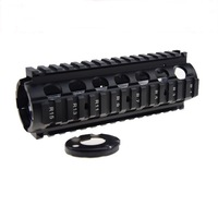 High Quality M4A1 M4 CQBR MK18Mod0 7 Inch CNC RIS Handguard with Front Case for J9 Water Gel ball blaster AEG