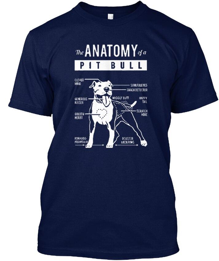 Анатомия питбуль Pitbull-популярного Tagless футболка
