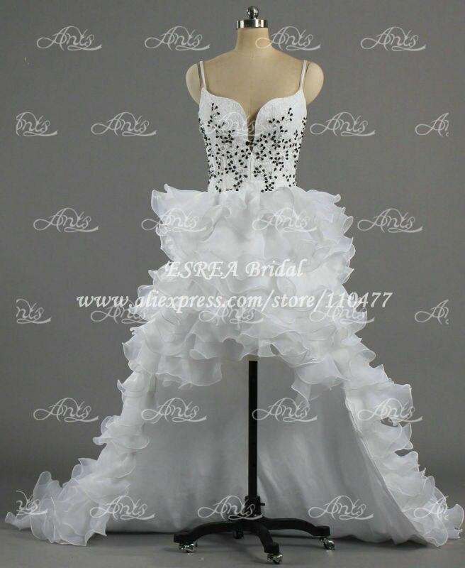 Fashionable Ruffled Organza White Lace Corset High Low