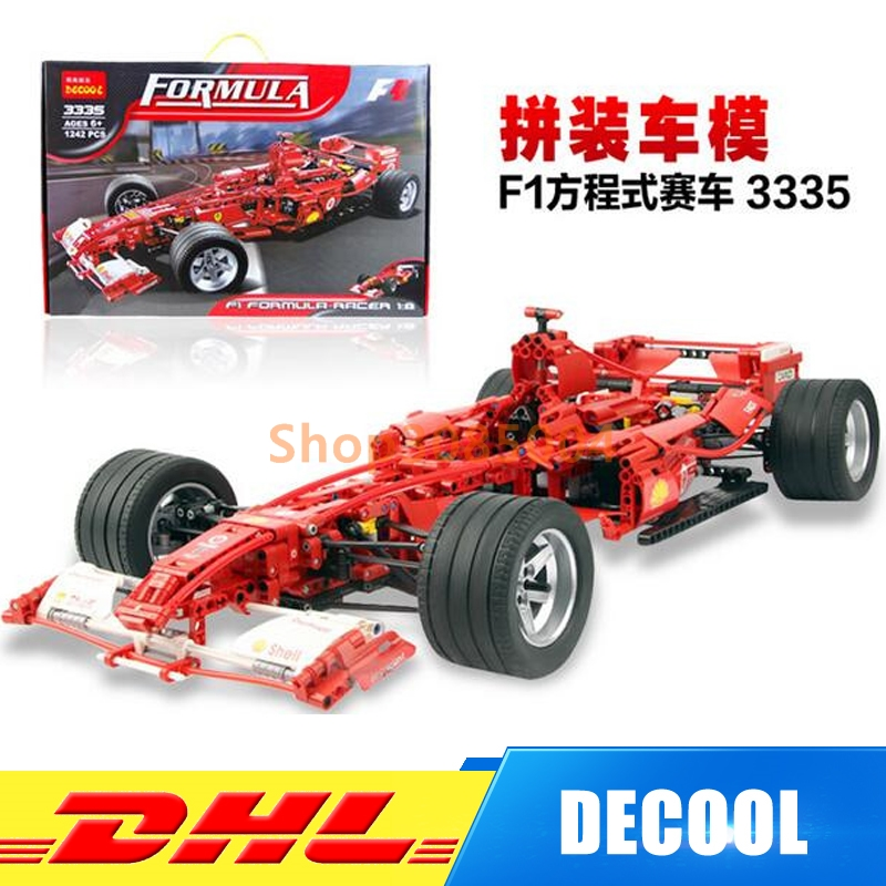 IN Stock DHL Decool Formula Racing Car 1:8 Model 3335 Building Blocks Sets 1242pcs Educational DIY Bricks Toys Clone 8674 high speed racing car blocks 110pcs bricks building blocks sets model bricks educational toys for children f1 formula racing