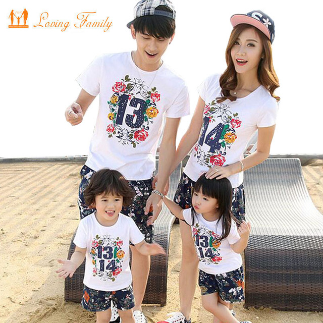64483eaa52f4 Family Look Girl and Mother Daughter Dresses Father and Son T-shirt and  pant Printed