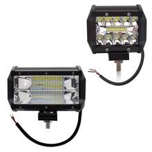 Safego 4 5 Cal 60 W 72 W LED robocza listwa oświetleniowa 12 V Spot powodzi chipy Offroad 4x4 przeciwmgielne światła jazdy światło dla tej lampy ciężarówka łódź 24 V