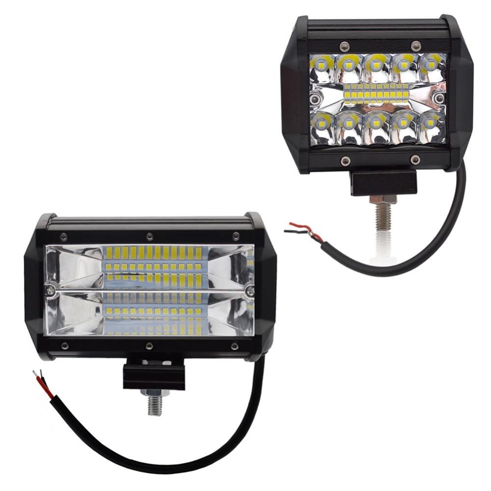 Safego 4 5 Inch 60W 72W LED Work Light Bar 12V Spot Flood Chips Offroad 4x4 Fog Light Driving Light Lamp For Truck Boat Pack 24V