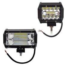 Safego 4 5 Zoll 60 W 72 W Led arbeitslicht Bar 12 V Spot Flut Chips Offroad 4x4 nebel Licht Fahr Licht Lampe Für Lkw Boot Pack 24 V