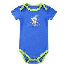 2016 Retail 0-1yrs Newborn Short-Sleeved Baby Infant Cartoon Bodysuits Summer Baby Boys Girls Body Sleepwear jumpsuits Clothing