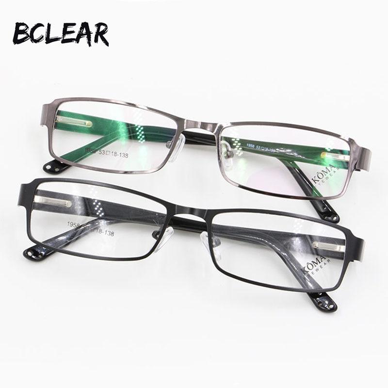 BCLEAR Mais Liga de Moda Aro Completo Armações de óculos Homens Óculos De  Acetato Dobradiça de a5a102bb52
