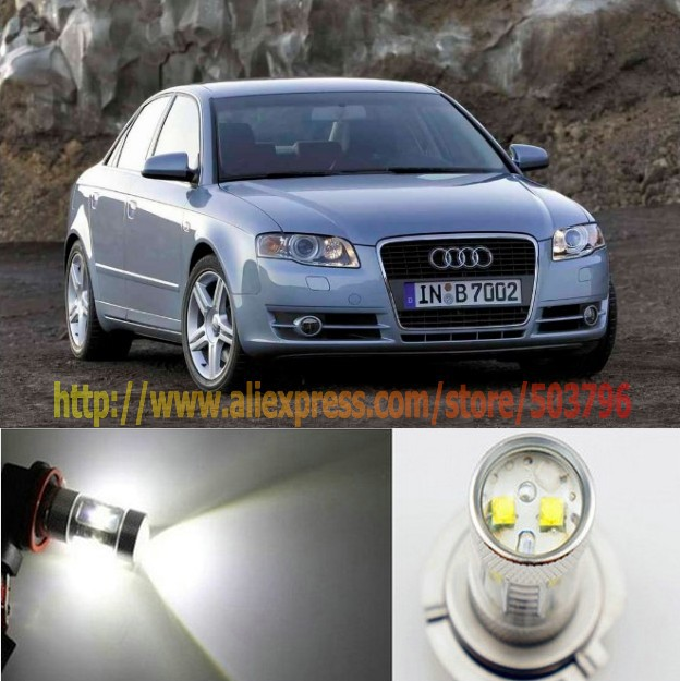 Free Shipping 2X 30W Bright White H11 Cree LED FOG Light FOR Audi A4 HID 2006