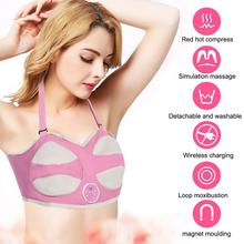 1b766a38fb Electric Breast Enhancer Bra Infrared Heating Chest Frequency Vibration  Massager Stimulator Beauty Breast Enlargement Machine(