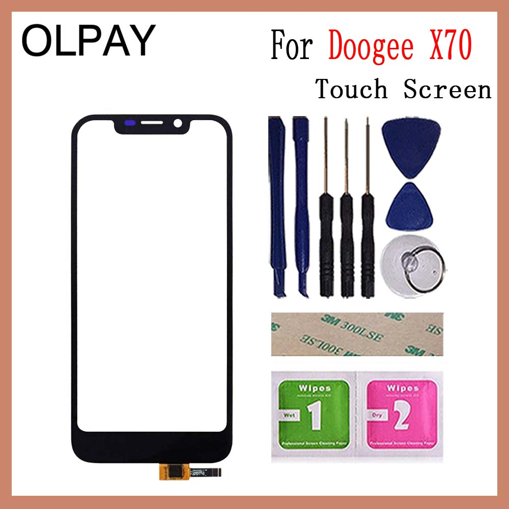 Image 2 - OLPAY 5.5'' For Doogee X70 X 70 Touch Screen Glass Digitizer Panel Lens Sensor Glass Free Adhesive And Wipes-in Mobile Phone Touch Panel from Cellphones & Telecommunications