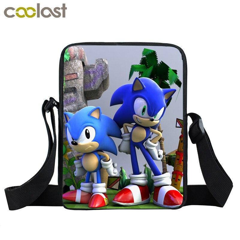 Cartoon Sonic Mini Messenger Bag Children Shoulder Bags Kids Crossbody Bag For Men Women Handbags Boys Girls Book Bags
