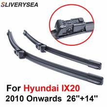 SLIVERYSEA Wipers Blade For Hyundai ix20 2008-2016 26''+14'' Car Accessories For Auto Rubber Windshield Wiper Prices CPC109-1