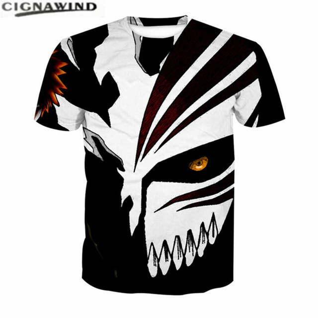 852bc2d1c0 New arrival t shirt men women 3D Printed tshirts Hip Hop Cool T-Shirt  Bleach Red Stripes White Face With One Eye summer tops tee
