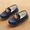 Niños Zapatos 2016 niños diseñador de la marca de zapatos de cuero de la pu zapatillas de deporte casuales niños zapatos para niñas formadores zapatillas de deporte