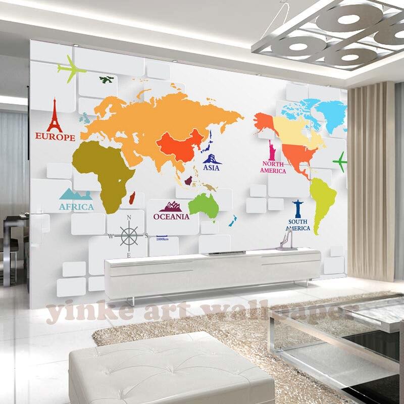 World Map Wallpaper For Bedroom Modern Design Living Room D Wall - World map wallpaper south africa