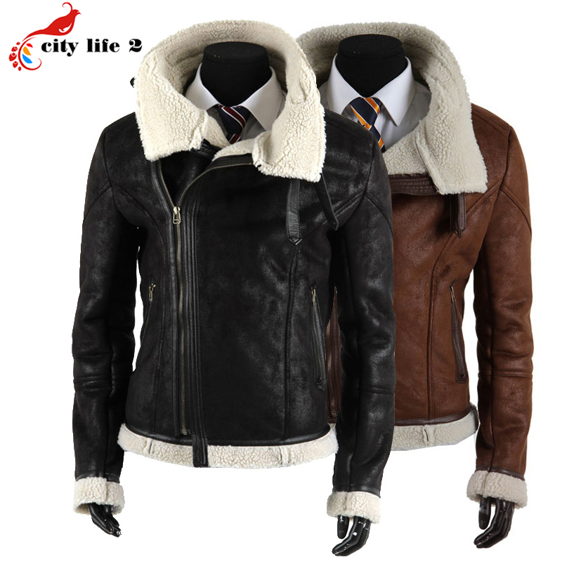 Leather Fleece Jacket - Coat Nj