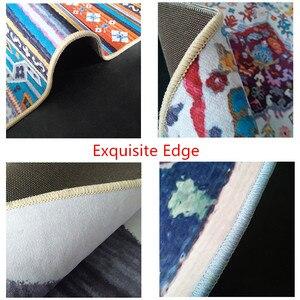 Image 5 - Alfombra de felpa de imitación nórdica para sala de estar, alfombra antideslizante para cabecera, para puerta estera dormitorio, color blanco, negro, mármol, geométrico, azul marino
