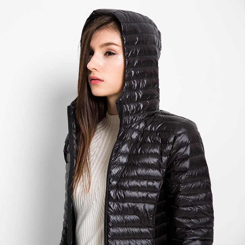 4XL 95% Women   Down     coat   white duck pile Solid color autumn winter new paragraph jacket women jacket tide WOMEN WINTER JACKER