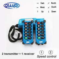 2 transmitters + 1 receiver industrial remote controller switches 10 Channels keys Direction button Hoist Crane F21 E2B 8