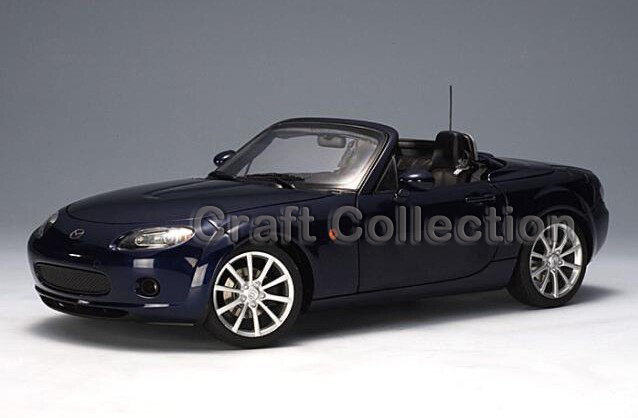 Blue 1/18 MAZDA MX-5 MX5 Folding Roof Coupe Car Alloy Model Car Convertible Classical Miniature Toys Limited Edition