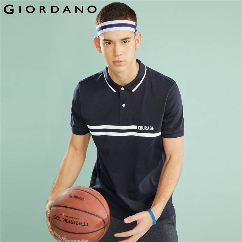 Giordano Men   Polo   Shirt Fast Dry Printed Camisa   Polo   Fashion Courage Mens   Polo   Shirt Brands Summer Short Sleeve Clothing