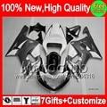 7gift Grey white  For SUZUKI GSXR 600 750 01 02 03 GSX R750 K1 1MC832 GSXR600 R600 GSXR750 2001 2002 2003 Fairing Glossy grey