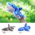 Mano Juguetes Dedo Marioneta Animal de la Historieta del Tiburón De Peluche Muñeco de Regalo Para Bebés y Niños