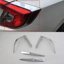 Car body kits  ABS taillight cover Pedal Car Sticker For HONDA CIVIC 2017 car body kits abs chrome door mirror cover pedal car sticker for honda accord 2018