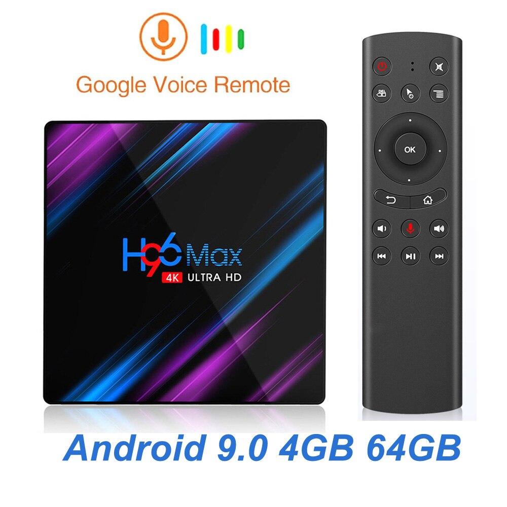 H96 MAX Smart TV Box Android 9 0 4GB Ram 32GB 64GB Rom Rockchip RK3318 4K Wifi USB 3 0 H 265 Google Play Set Top Box PK X96 MAX