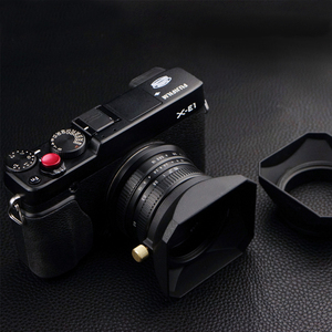Image 1 - 37 39 40.5 43 46 49 52 55 58 mm Square Shape Lens Hood for Fuji Nikon Micro Single Camera Gift a cap cover