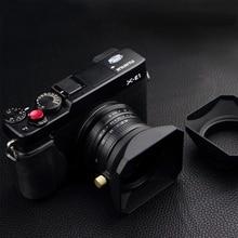 37 39 40.5 43 46 49 52 55 58 مللي متر مربع شكل عدسة هود ل فوجي نيكون مايكرو كاميرا واحدة هدية غطاء تغليف