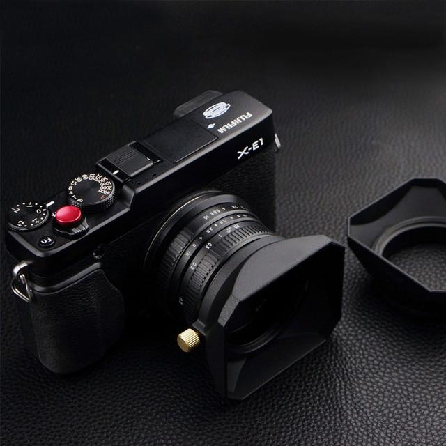 Cubierta de lente de forma cuadrada, 37 39 40,5 43 46 49 52 55 58mm, para Fuji Nikon, Micro Cámara individual, regalo