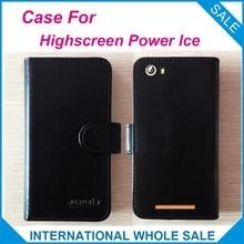 Горячая! 2016 Highscreen мощность льда чехол, 6 цветов высокое качество кожа эксклюзивный чехол для Highscreen питания ледяного покрова телефон отслеживания