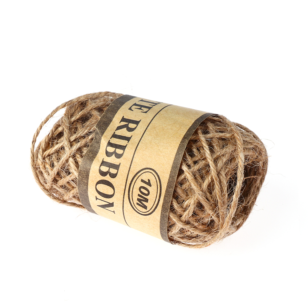 1Roll 10m Natural Cords Woven Hemp Rope Rope Wedding Home Accessories Decorative Twine Jute String Gardening Cord DIY Craft