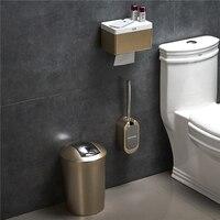 크리 에이 티브 유럽 화장실 브러쉬 세트 벽 욕실 액세서리 세트에 대 한 먼지 빈 및 종이 홀더와 화장실 브러시 홀더 마운트