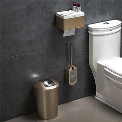 Kreatywna europejska toaleta zestaw pędzelków do montażu na ścianie szczotka do wc uchwyt z kosz na śmieci i uchwyt na papier do zestaw akcesoriów łazienkowych w Zestawy akcesoriów łazienkowych od Dom i ogród na