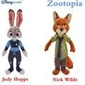 Nueva llegada 2 unids/lote 23 & 33 CM Cartón Película Zootopia PP Algodón Felpa Suave Animales de Peluche Precioso Muñecos de Peluche juguetes