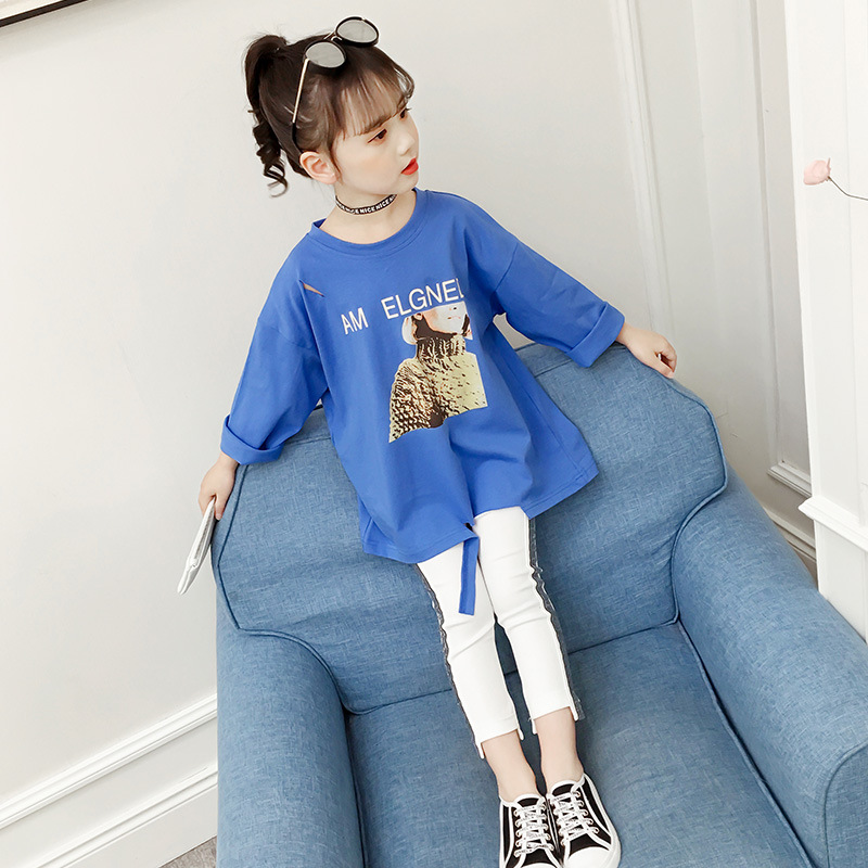 fashion style buying new wholesale price Girls top 2019 Spring toddler girl shirts Cotton clothes for big ...