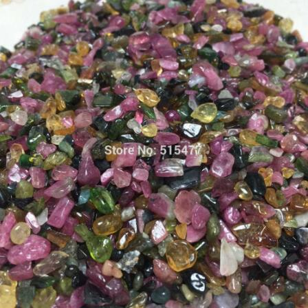 5 7mm AAA Natural watermelon tourmaline Tumbled stone nunatak gravel crystal Healing feng shui decoration wholesale