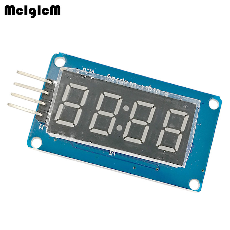 MCIGICM 4 Bits Digital Tube LED Display Module With Clock Display TM1637 Raspberry PI