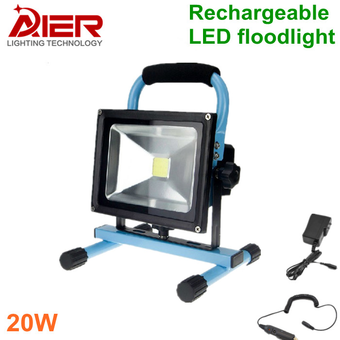 Free shipping 20W LED Rechargeable Flood Light, LED Outdoor Emergency Lighting, waterproof floodlight