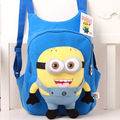 2016 High Quality Cute 3D Minion Plush Backpack for Baby Girl Boys Children's Shoulder Bag Cartoon School Bags for Kids Satchel
