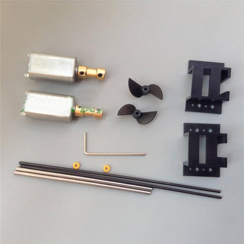 1Set Boat Differential Kit 3V-9V 180 Motor+15cm Drive Shaft+Copper Coupling+Motor Seat+2Blades Propellers for RC Boats Parts