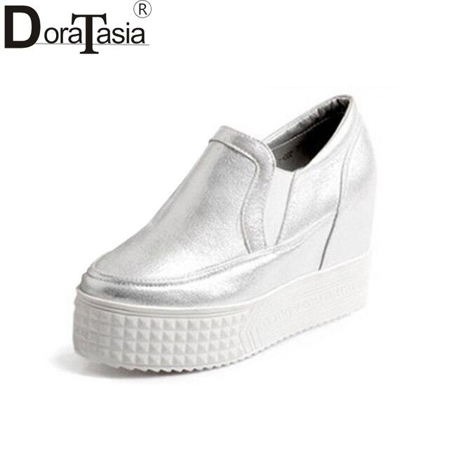 524fbfb3 DoraTasia 2019 wiosna jesień marka sztukateria płaskie buty na koturnie  kobieta slip-on wysokiej ukryte