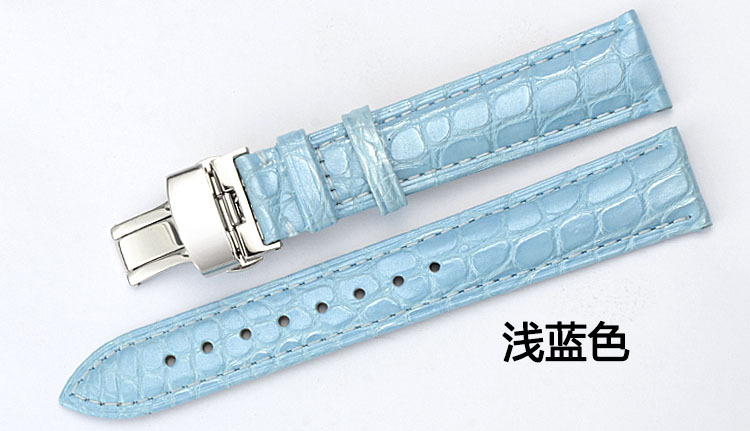 American crocodile leather strap Fashion female multicolor butterfly buckle watch chain accessories 12~24m все цены
