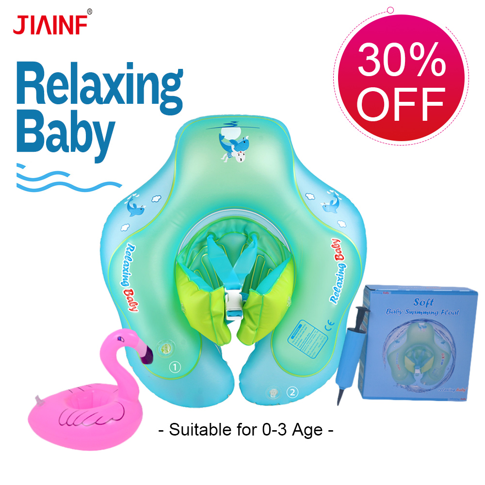 2019 Relaxing Swimming Ring Baby Circle Inflatable Float Buoy For Kids Swim Pool Bathing Accessories With Gifts Dropshipping