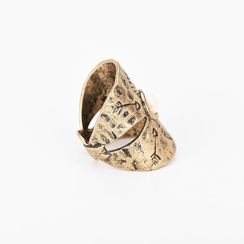 Naiste vintage sõrmenukkidega sõrmussõrmus antiikhõbedast kuldse - Mood ehteid - Foto 5