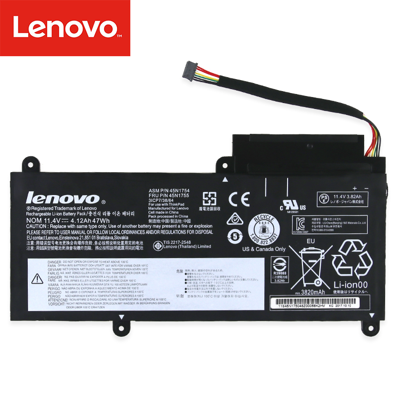 Original Laptop Battery For Lenovo  ThinkPad E450 E450C E460 E460C E455 E465 E465C 45N1753 45N1756 45N1757 45N1754 45N1755