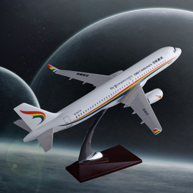 37cm A320 Airbus Tibet Airways Airplane Model Resin Aircraft Tibet Plane Aviation Model Collection A320 Plane Airways Model Toys