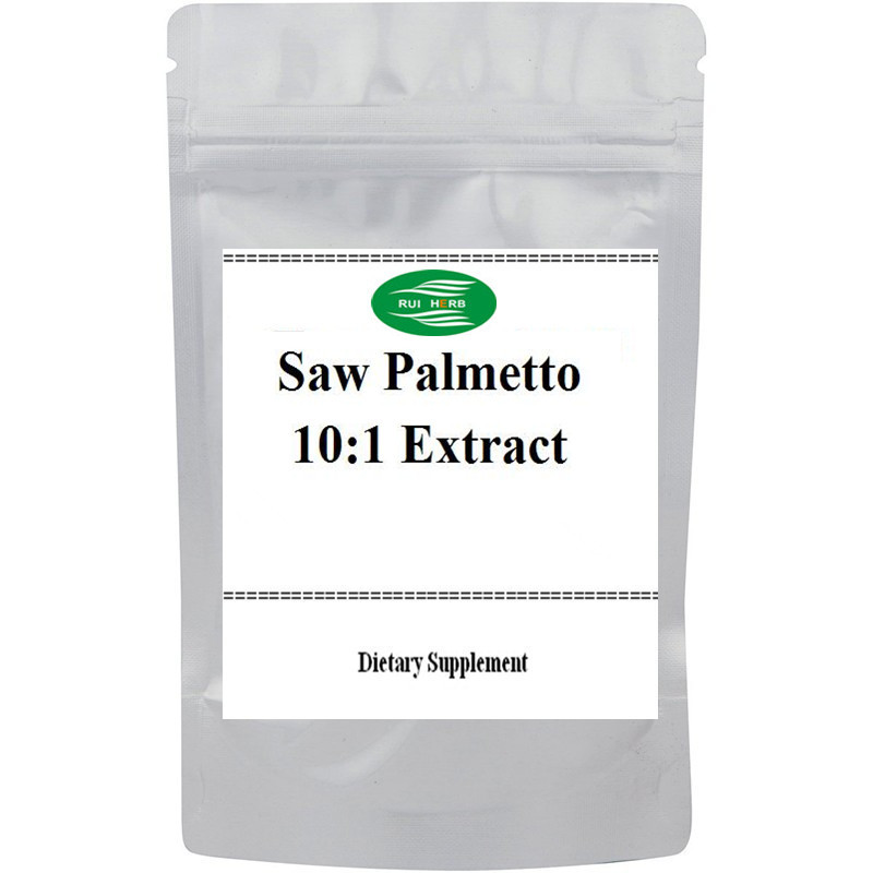 Saw Palmetto 10:1 Extract Powder free shipping 1 pack saw palmetto extract 45 tty acids gc vcaps 500mg x 300pcs free shipping