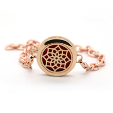 BOFEE Essential Oil Bangle Bracelet Tree Of Life Aromatherapy Diffuser Magnet 316L Stainless steel Locket Hand Chain Jewelry